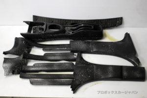 プロボックスインテリアリニュー内装樹脂パーツ洗浄03-002